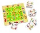 Fa puzzle 9 db-os útkereső fa kirakó 20 feladatkártyával