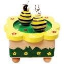 Zenélő doboz - mágneses méhecskék