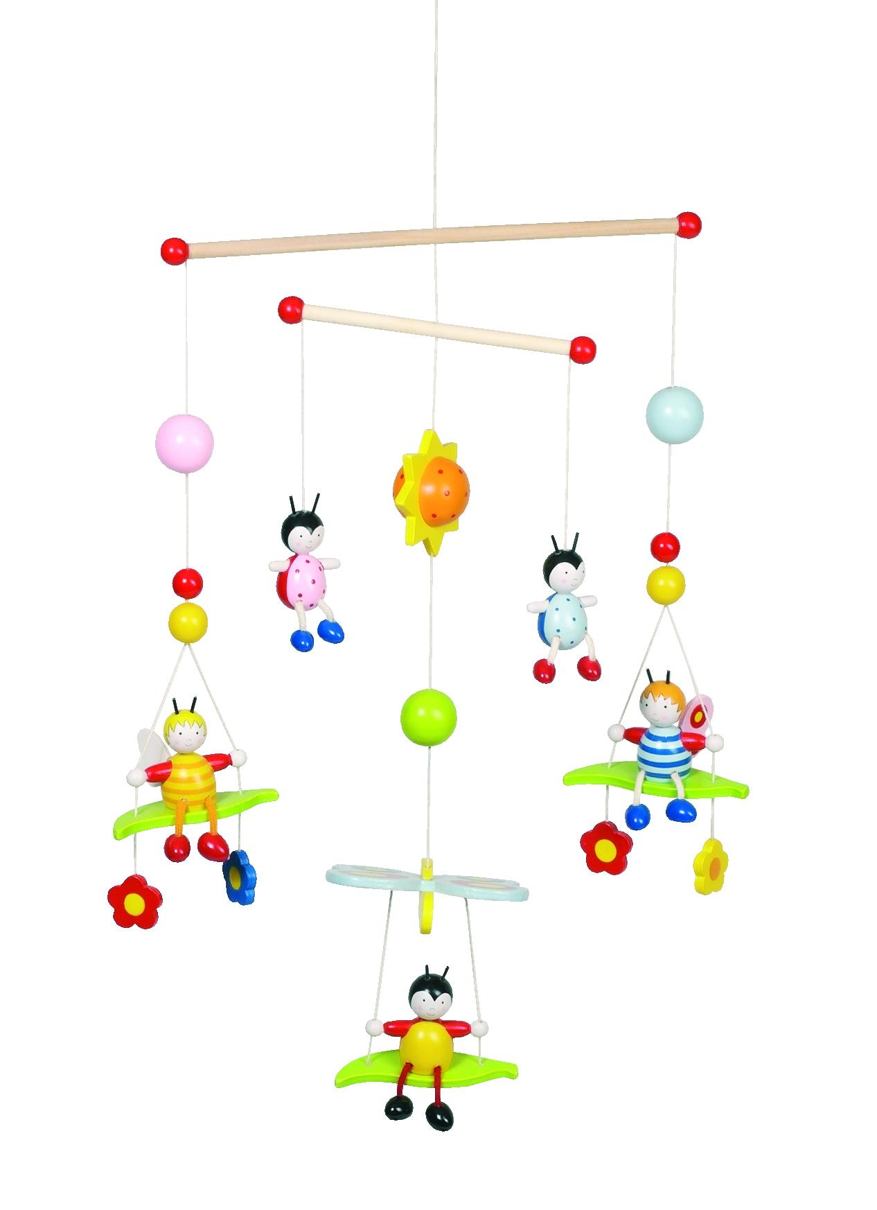 Függő figurák - 3D méhecskék és bogárkák - GOKI fajáték