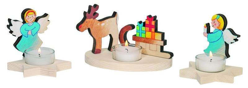 Kreatívan dekorálható karácsonyi mécsestartó - angyal gyertyával