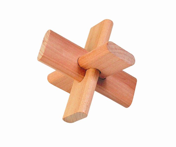 Fa ügyességi játék - kereszt - GOKI fajáték