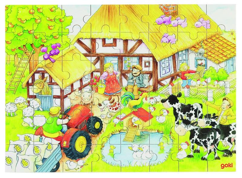 Fa puzzle 48 db-os fa kirakó: tanyán