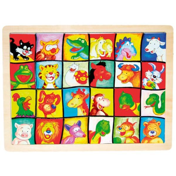 Fa puzzle képkereső (állatfejek)