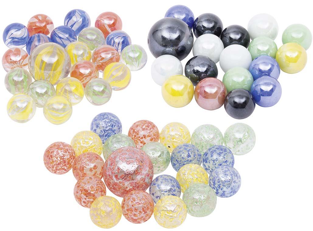 Üveggolyó készlet 21 db-os, pöttyös